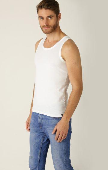 Undercolors of Benetton | White Solid Vest