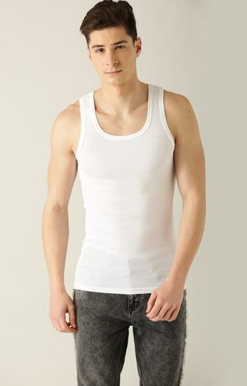 Undercolors of Benetton   White Solid Vest