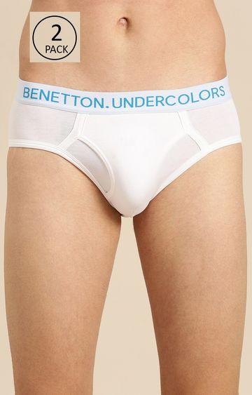 Undercolors of Benetton   White Solid Briefs