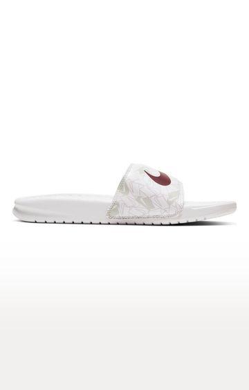Nike | White Benassi JDI Flip flops