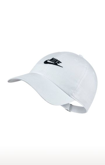 Nike | White Solid Sportswear Heritage86 Futura Washed Baseball Cap