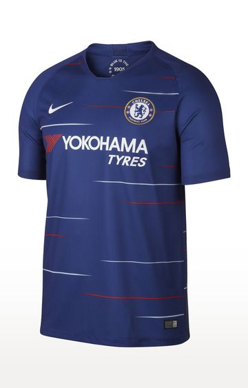 Nike | Blue Nike Breathe Chelsea FC Home Stadium Tees