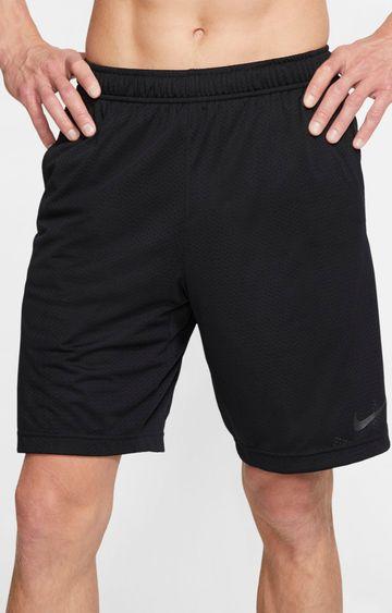 Nike | Black Solid Dri-Fit Shorts