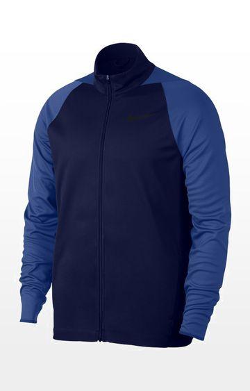 Nike | Nike Blue Solid Epic Knit Activewear Jacket