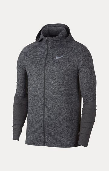 Nike   Nike Grey Melange Hoodie