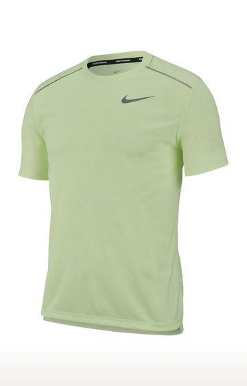 Nike | Nike Yellow Solid Dri-Fit Miler T-Shirt