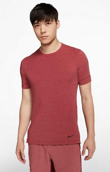 Nike | Maroon Melange Dri-Fit T-Shirt