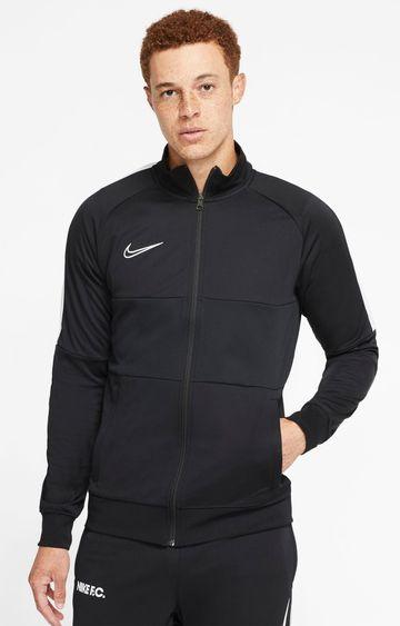 Nike   Black Solid Dri-Fit Activewear Jacket