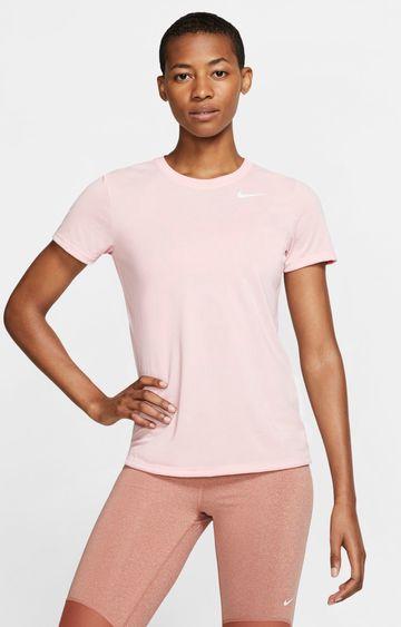 Nike | Nike Pink Solid Dri-Fit Legend T-Shirt