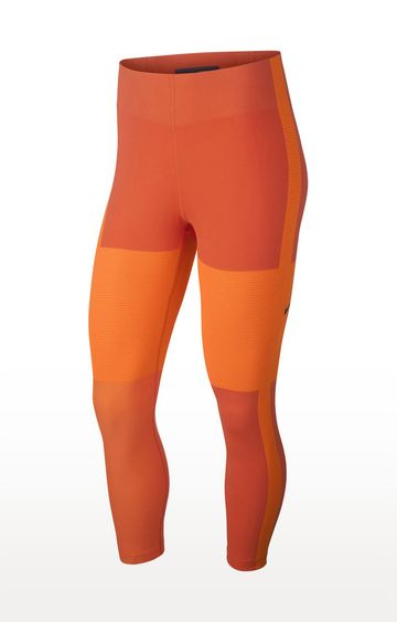 Nike | Orange Colourblock Tech Tights