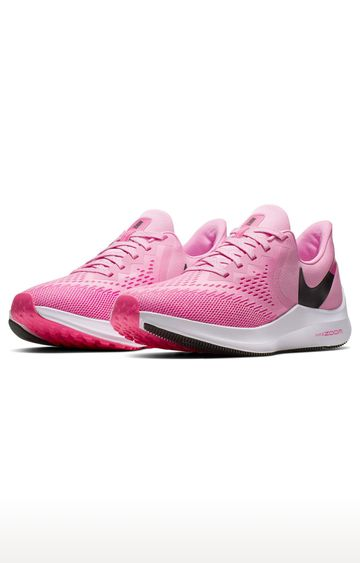 Nike | Pink Air Zoom Winflo 6 Running Shoes