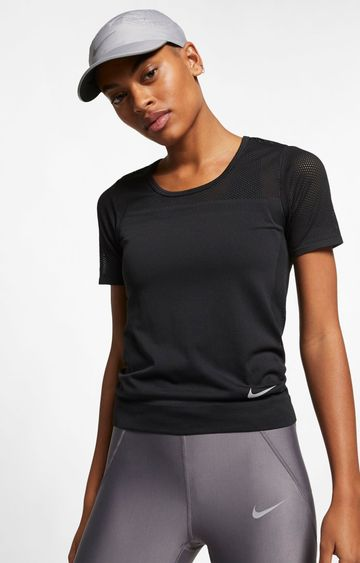 Nike | Black Solid T-Shirt