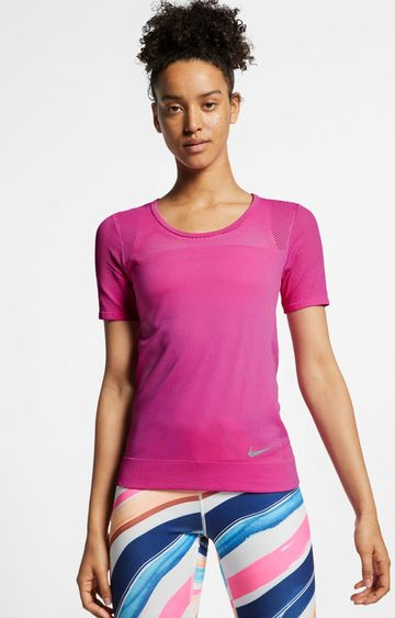 Nike | Pink Solid T-Shirt