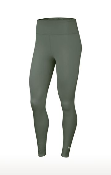 Nike | Green Solid One Luxe Tights