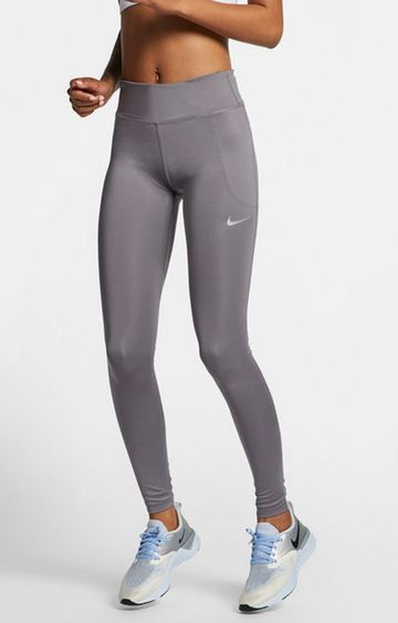 Nike   Grey Solid Trackpants