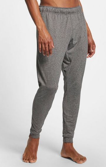 Nike | Grey Melange Yoga Dri-Fit Joggers