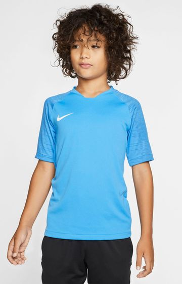 Nike   Blue Solid Breathe Strike T-Shirt