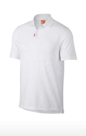 Nike | White Unisex Solid Polo T-Shirt