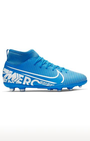 Nike   Blue Unisex Jr. Mercurial Superfly 7 Club MG Outdoor Sports Shoes