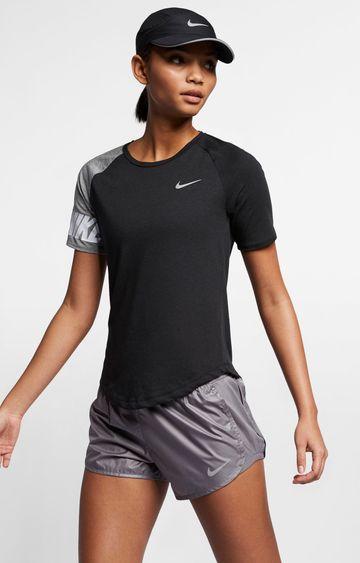 Nike | Black Solid Miler T-Shirt