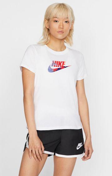 Nike | White Printed T-Shirt