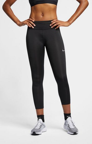 Nike | Black Solid Nike Tights