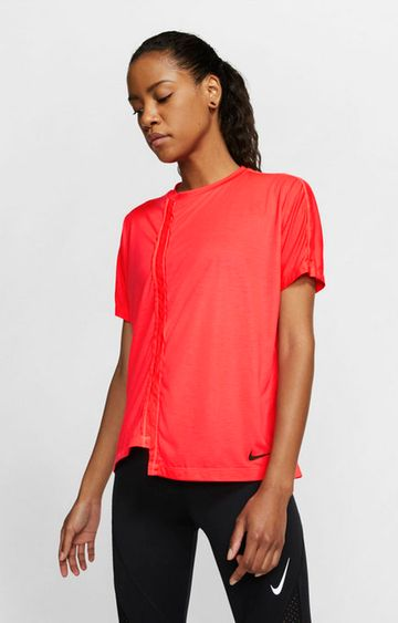 Nike | Red Solid Nike Top
