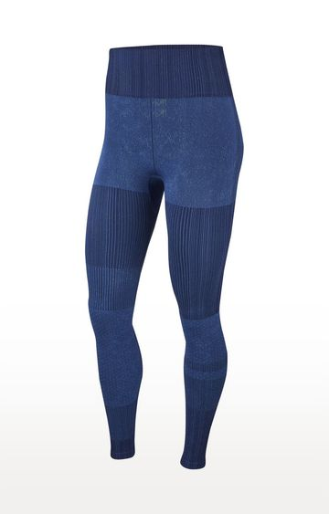 Nike | Blue Striped City Ready Tights