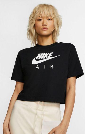 Nike | Black Printed Air Crop Top