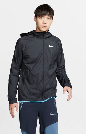 Nike | Black Solid Essential Bomber Jacket