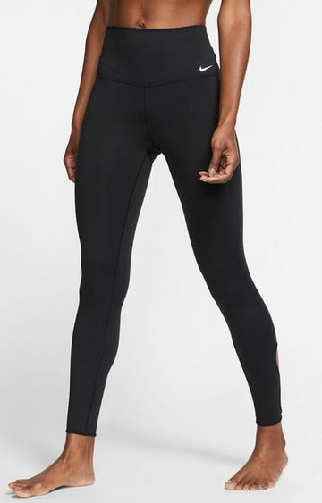 Nike | Black Solid Yoga Tights