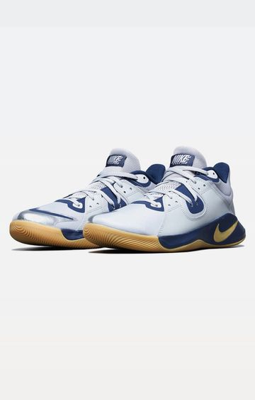 Nike   Nike Grey Fly.By Mid Basketball Shoes