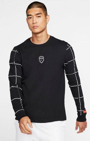 Nike   Black Solid Dri-Fit Lebron T-Shirt