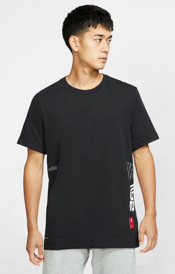 Nike | Black Printed Dri-Fit Kyrie T-Shirt