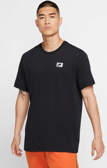 Nike   Black Printed Dri-Fit T-Shirt