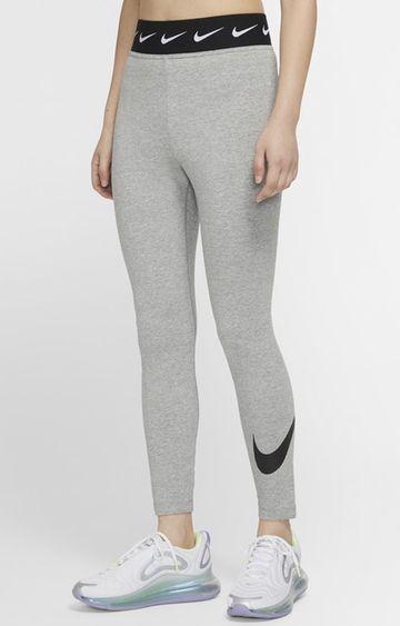 Nike | Nike Grey Melange Nsw Lggng Club Hw Swoosh Tights