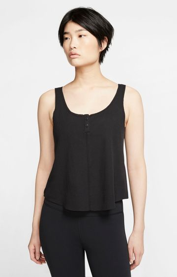 Nike | Black Yoga Luxe Solid Tank Top