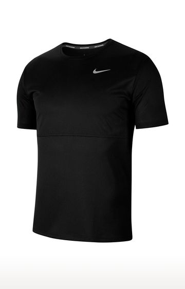 Nike | Black Breathe Solid T-Shirt