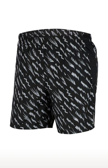 Nike | Black Challenger Printed Shorts