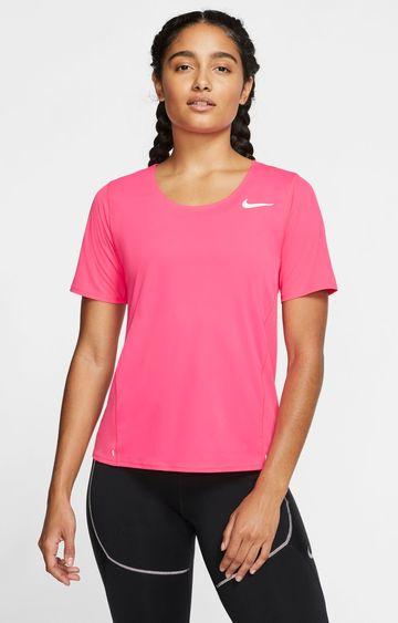 Nike | Pink City Sleek Solid T-Shirt