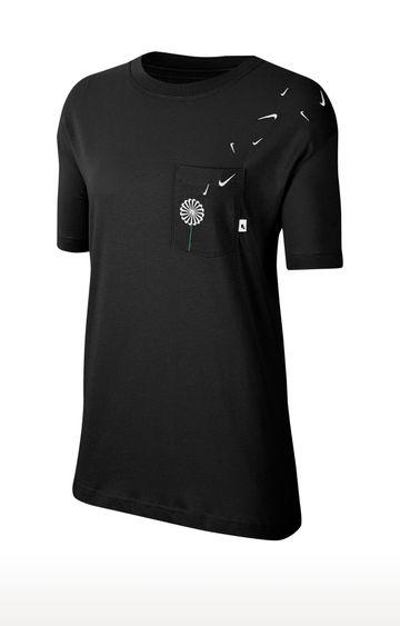 Nike | Black Sportswear Printed T-Shirt