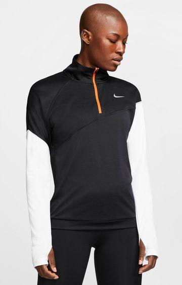 Nike   Black Nike Colourblock T-Shirt