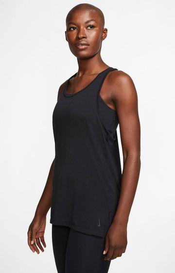 Nike | Black Yoga Solid Tank Top