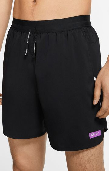 Nike | Black Flex Stride Solid Shorts