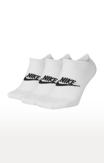 Nike | White Sportswear Everyday Essentials No Show Sock
