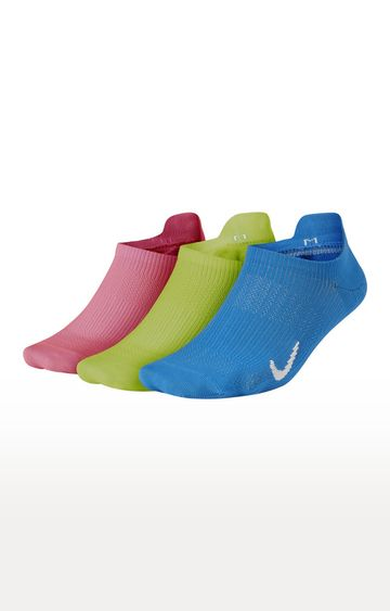Nike | Multicoloured Solid Everyday Plus Lightweight Socks - Pack of 3