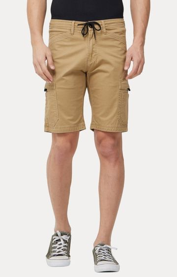 Killer | Beige Solid Shorts