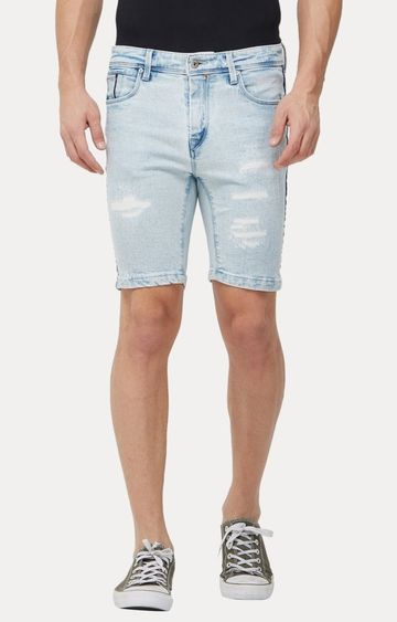 Killer | Light Blue Ripped Shorts