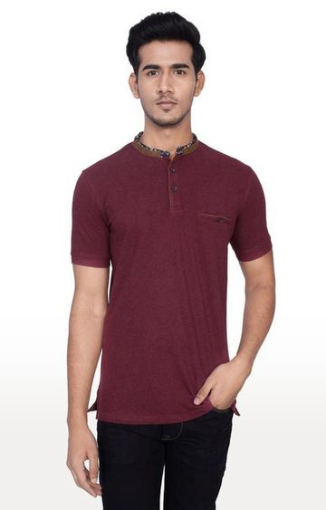 Turtle | Brown Melange Polo T-Shirt