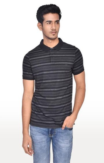 Turtle | Black Striped Polo T-Shirt